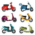 Vector scooter set Royalty Free Stock Photo