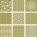 Vector scrapbook set seamless background collection illustration Stock Photography