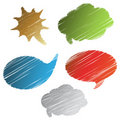 Vector scratch speech bubbles Stock Photography