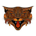 Vector screaming fire cat Royalty Free Stock Photo