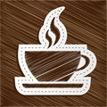 Vector scribbled coffee cup sticker Stock Image