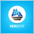 Vector sea boat, ship icon, illustration