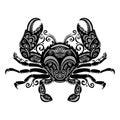 Vector Sea Crab Royalty Free Stock Photo