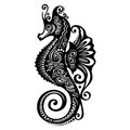 Vector sea horse patterned design Stock Image