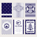 Vector sea and nautical card and banners.
