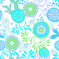 Vector seamless abstract pattern for patchwork, underwater theme. Royalty Free Stock Photo