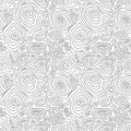 Vector seamless abstract simple pattern with conce monochrome concentric curved circles eps Royalty Free Stock Image
