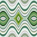 Vector seamless abstract wavy background retro green pattern Royalty Free Stock Photo