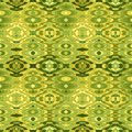 Vector seamless abstract wavy background retro green and yellow pattern Royalty Free Stock Photo