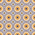Vector seamless arabic pattern. Arabesque, Ramazan, greeting, happy month Ramadan. Islam seamless geometry pattern Royalty Free Stock Photo