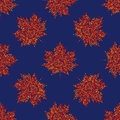 Vector seamless autumn pattern, maple leaf background Royalty Free Stock Photo