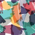 Vector seamless background. Artistic multi color repeatable pattern. Marker hand drawn strokes texture with transparency