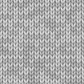 White and gray realistic knit texture seamless pattern. Vector seamless background for banner, site, card, wallpaper. Royalty Free Stock Photo