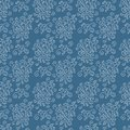 Vector Seamless background, bouquets of delicate white flowers on a blue background, prints for fabrics Royalty Free Stock Photo