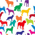 Vector seamless background with dogs silhouettes Royalty Free Stock Images