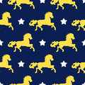 Vector seamless background of horses and stars. Beautiful, kind, fairytale pattern for packaging design, web pages, wrap
