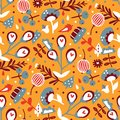Abstract garden seamless pattern Royalty Free Stock Photo