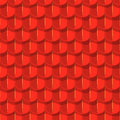 Vector seamless background red tile roof with shade Stock Photography