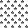 Vector seamless background with stylish retro grunge scratch stars. Eps 10 Royalty Free Stock Photo
