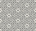 Vector Seamless Black And White Abstract Geometric Rounded Lace Pavement Pattern Royalty Free Stock Photo