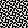 Vector Seamless Black And White Cross Arrow Shape Geometric Pattern Royalty Free Stock Photo
