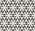 Vector Seamless Black And White Geometric Circle Triangle Shape Pattern Royalty Free Stock Photo