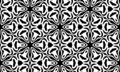 Vector Seamless Black and White Organic Rounded Jumble Maze Lines Patterns. Royalty Free Stock Photo