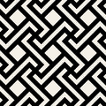 Vector Seamless Black and White Geometric Rhombus Cross Square Tile Pattern Royalty Free Stock Photo