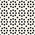 Vector Seamless Black and White Geometric Rounded Circles Retro Polka Dots   Pattern Royalty Free Stock Photo