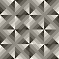 Vector seamless black white geometric square gradient diagonals pattern abstract background Stock Images