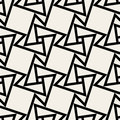 Vector Seamless Black and White Geometric Square Tile Pattern Royalty Free Stock Photo