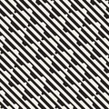 Vector seamless black and white halftone lines grid pattern. Abstract geometric background design. Royalty Free Stock Photo