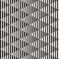 Vector seamless black and white halftone lines pattern. Abstract geometric retro background design.