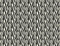 Vector Seamless Black And White Irregular Rounded Lines Halftone Transition Abstract Background Pattern