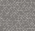 Vector Seamless Black And White Irregular Triangle Lines Geometric Pattern