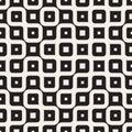 Vector Seamless Black And White Irregular Wavy Lines Geometric Pattern Royalty Free Stock Photo