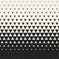 Vector Seamless Black and White Morphing Triangle Halftone Grid Gradient Pattern Geometric Background Royalty Free Stock Photo