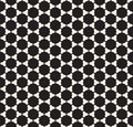 Vector Seamless Black and White Rounded Circle Grid Simple Pattern Royalty Free Stock Photo