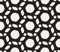 Vector Seamless Black and White Rounded Lines Pattern Royalty Free Stock Photo