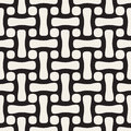 Vector Seamless Black and White Rounded Rectangles And Circles Lattice Pattern