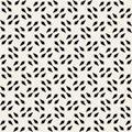 Vector Seamless Black And White Square Arrow Head Shape Geometric Pattern
