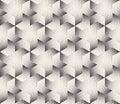 Vector Seamless Black and White Stripes Stippling Halftone Dots Hexagonal Triangular Pattern