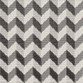 Vector Seamless Black And White Vintage Engraved Chevron ZigZag Horizontal Stripes Pattern Royalty Free Stock Photo