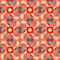 Vector Seamless Blue Pink Color Geometric Ethnic Quilt Pattern