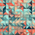 Vector Seamless Blue Pink Gradient Triangle Irregular Grid Square Pattern Royalty Free Stock Photo