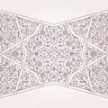 Vector seamless border in Middle Eastern style. Royalty Free Stock Photo
