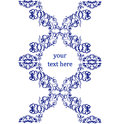 Vector seamless border in victorian style element for design Royalty Free Stock Photos