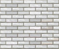 Vector seamless brick wall made of white bricks. Royalty Free Stock Photos