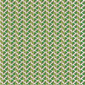 Vector seamless bright pattern with floral elements. Drawn by ha