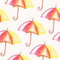 Vector Seamless Bright Umbrellas